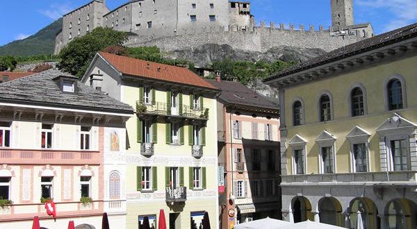 Bellinzona, Ticino, Svizzera. Autore e Copyright: Marco Ramerini