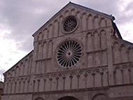 La Cattedrale di Santa Anastasia (Sv. Stosija), Zara (Zadar), Croazia. Autore e Copyright: Marco Ramerini