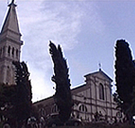 La chiesa di Sant' Eufemia, Rovigno (Rovinj), Istria, Croazia. Autore e Copyright: Marco Ramerini