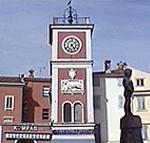 Torre dell'orologio. Rovigno (Rovinj), Istria, Croazia. Autore e Copyright: Marco Ramerini