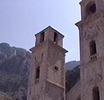 I campanili della cattedrale di San Trifone (Katedrala Svetog Trifuna), Cattaro (Kotor), Montenegro. Autore e Copyright: Marco Ramerini