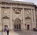 Porta di Terraferma (Kopnena Vrata), Zara (Zadar). Fu costruita nel 1543 da Michele Sanmicheli, è l'ingresso monumentale alla città. Autore e Copyright: Marco Ramerini