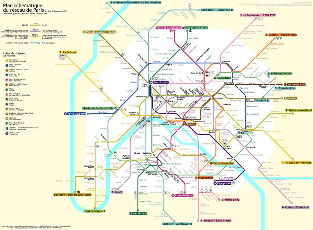 Mappa del Metro di Parigi